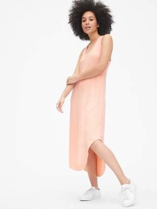 Gap Soft Slub V-Neck Midi Dress