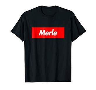 Merle Box First Given Name Logo Funny T-Shirt