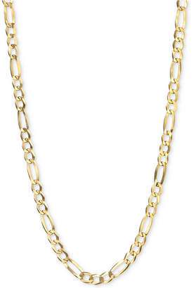 """Italian Gold Figaro Link 22"""" Chain Necklace (3-3/8mm) in 14k Gold"""