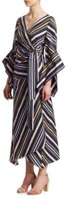 Peter Pilotto Handkerchief Hem Wrap Dress