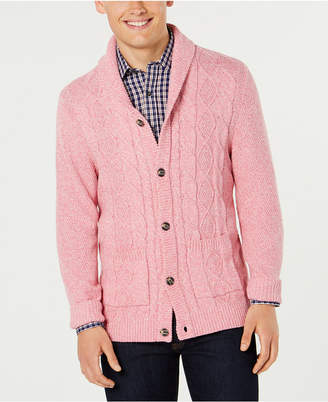 Club Room Men Cable-Knit Shawl-Collar Cardigan