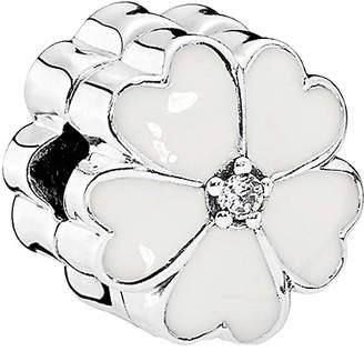 Pandora Silver Cz White Primrose Clip Charm