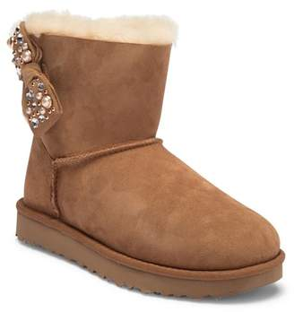 UGG Mini Bailey Brilliant Bow Genuine Shearling Bootie
