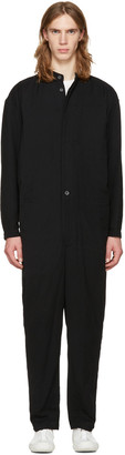 Issey Miyake Men Black Collarless Jumpsuit $1,575 thestylecure.com