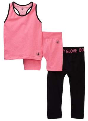 Body Glove 3-Piece Tank, Leggings, & Shorts Set (Little Girls)