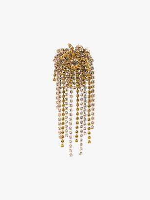 Dries Van Noten Yellow crystal brooch