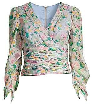 AMUR Women's Auriel Floral Silk Top