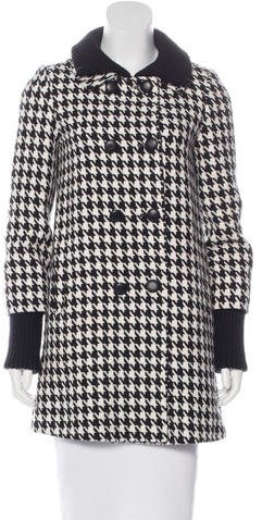 Alice + Olivia Alice + Olivia Houndstooth Double-Breasted Coat