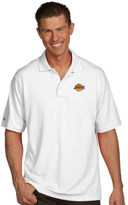 Antigua Men's Los Angeles Lakers Pique Xtra-Lite Polo