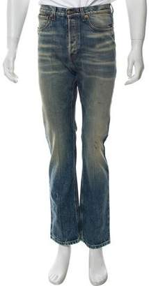 Gucci Paint Splatter Straight-Leg Jeans w/ Tags