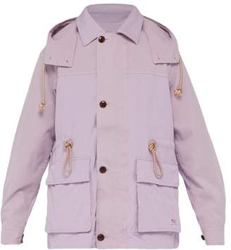 Acne Studios Panelled Field Jacket - Mens - Purple