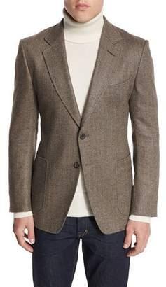Tom Ford O'Connor Base Herringbone Sport Jacket, Brown