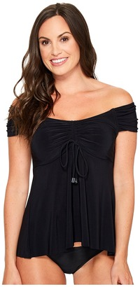 Magicsuit - Solid Piper Tankini Top Women's Swimwear $114 thestylecure.com