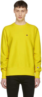 Champion Reverse Weave Yellow Crewneck Sweater