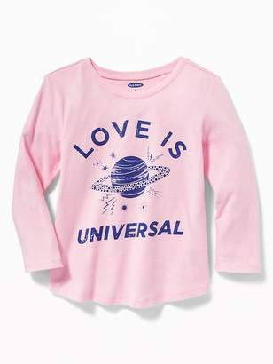 Old Navy Graphic Scoop-Neck Tee for Toddler Girls