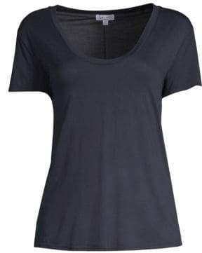 Splendid Women's Scoopneck Jersey Tee - Navy - Size Small
