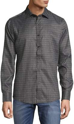 Saks Fifth Avenue Men's Microfiber Checkered Button-Down Shirt