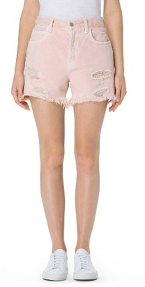 Women's J Brand Ivy High Waist Cutoff Denim Shorts $198 thestylecure.com