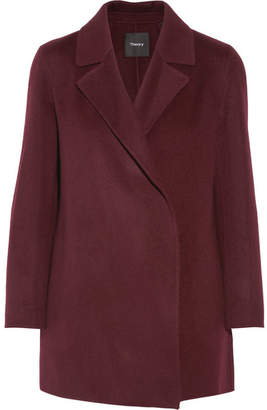 Theory - Clairene Wool And Cashmere-blend Coat - Merlot $595 thestylecure.com