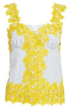 Rosie Assoulin Floral Lace Tank
