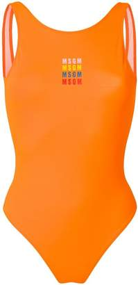 MSGM logo print swimsuit