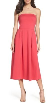 Women's Charles Henry Strapless Midi Dress $98 thestylecure.com