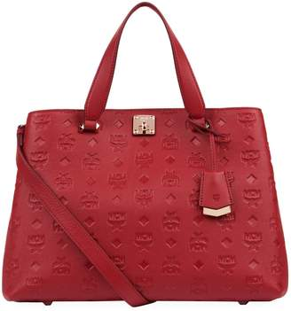 MCM Large Monogram Leather Tote Bag