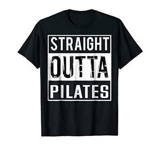 Straight Outta Pilates Shirt Funny Fitness T-shirt
