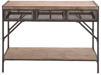 Cole & Grey Wood Metal Console Table