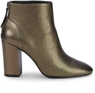 Ash Joy Metallic Leather Ankle Boots