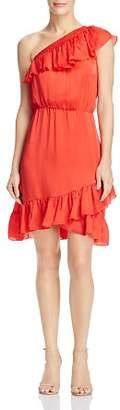 Saylor One-Shoulder Ruffled Dress