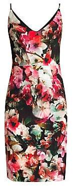 Black Halo Women's Jevette Floral Sheath Dress - Size 0