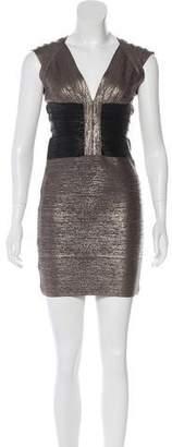 Herve Leger Melena Metallic Dress w/ Tags