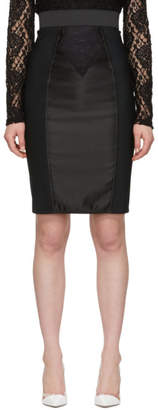Dolce & Gabbana Black Fitted Pencil Skirt