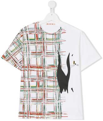 Marni graphic check T-shirt