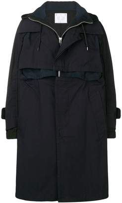 Sacai boxy trench coat