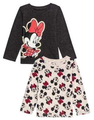 Minnie Mouse Minnie Pose Long Sleeve Graphic T-shirts 2pk (Baby Girls & Toddler Girls)