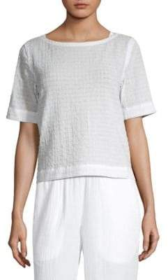 Eileen Fisher Cotton Voile Box Top
