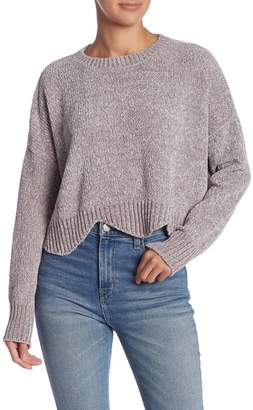 Lush Scallop Edge Chenille Sweater