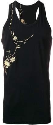 Haider Ackermann embroidered flower tank top