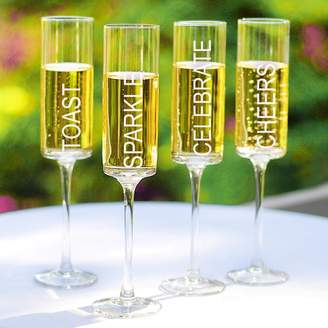 Cathy's Concepts Cathys Concepts 4-pc. Celebrate! Contemporary Champagne Flute Set