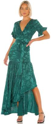 Privacy Please Green Chrysanthemum Gown