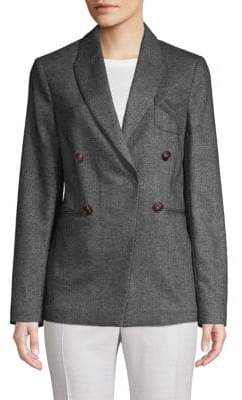 Brunello Cucinelli Double-Breasted Wool & Cashmere Pilot Jacket