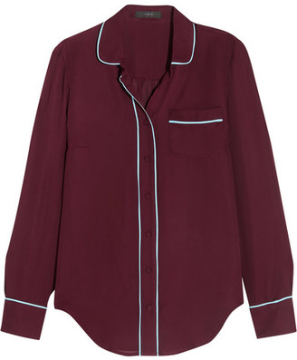 J.Crew - Silk Shirt - Burgundy $140 thestylecure.com