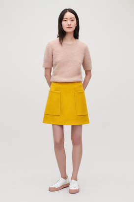 Cos BOILED WOOL A-LINE SKIRT
