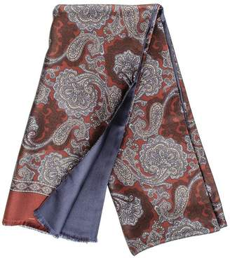 Black Larino Italian Silk Scarf