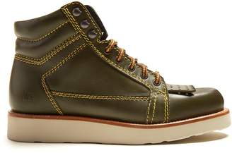 J.W.Anderson Contrast-stitch leather boots