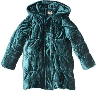 Crushed Velvet Puffer Coat