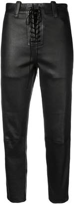 Unravel Project lace-up cropped trousers