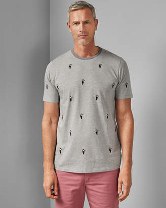 ad9714395 Ted Baker VIPATT Tall cotton embroidered T-shirt